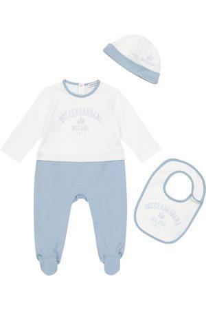Dolce & Gabbana Baby Set aus Strampler, Mütze und Lätzchen