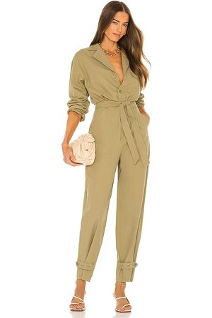 Song of Style Cora Jumpsuit in - Army. Size L (also in M, S, XL, XXS).