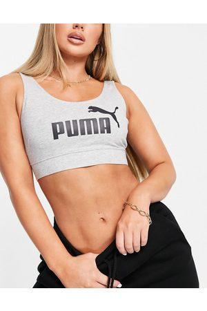 PUMA Essentials logo bralette in grey