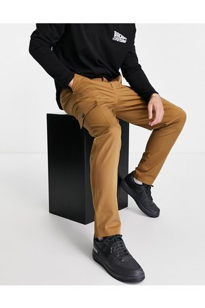 Selected Homme Slim tapered cargo trousers in tan-Brown