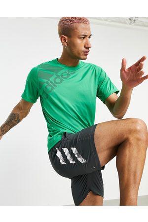 adidas performance Adidas Training large logo t-shirt in green