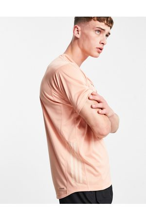 adidas performance Adidas Yoga t-shirt in washed pink