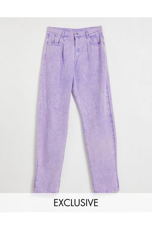 Reclaimed Vintage Tapered - Inspired '83 unisex relaxed fit jean in lilac-Purple