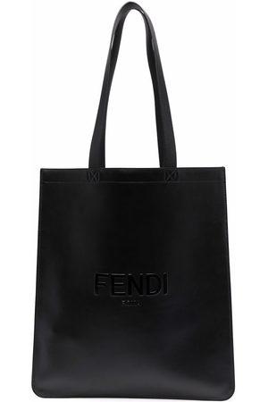 Fendi Logo debossed tote bag