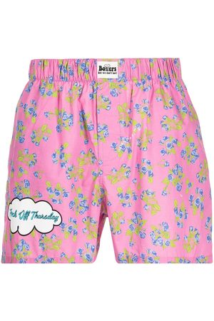 DUOltd Floral-print slogan boxer shorts