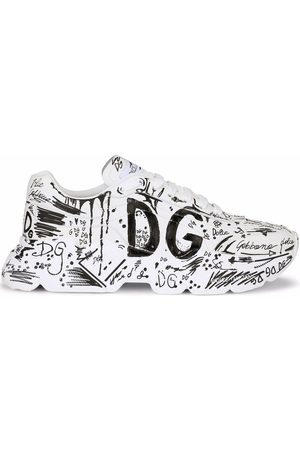Dolce & Gabbana Hand-painted graffiti Daymaster sneakers