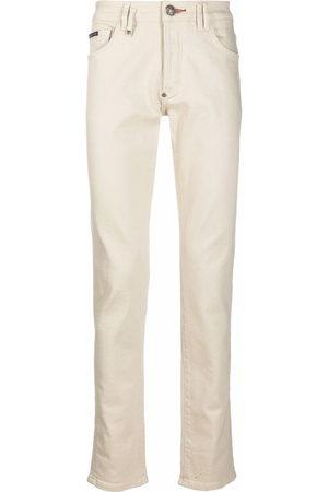 Philipp Plein Logo-plaque slim-fit jeans