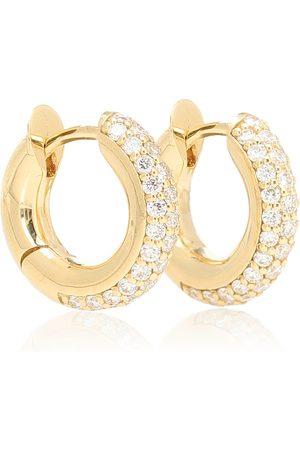 SPINELLI KILCOLLIN Creolen Mini Macro Hoop aus 18kt Gelbgold mit Diamanten