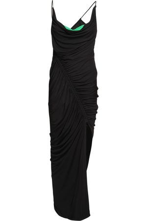 Bottega Veneta Langes, Drapiertes Kleid Aus Viskosejersey