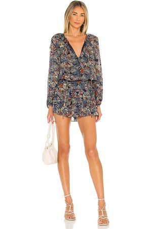 Amanda Uprichard Charleigh Romper in - Navy. Size L (also in XS, S, M).