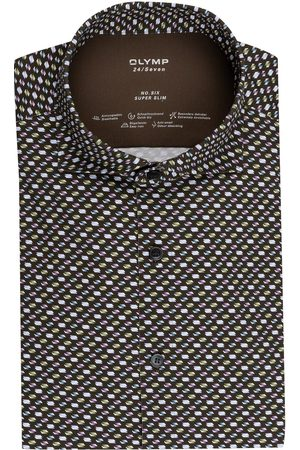 Olymp Jerseyhemd No. Six 24/7 Super Slim gruen