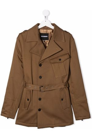 LES HOMMES KIDS TEEN belted trench coat