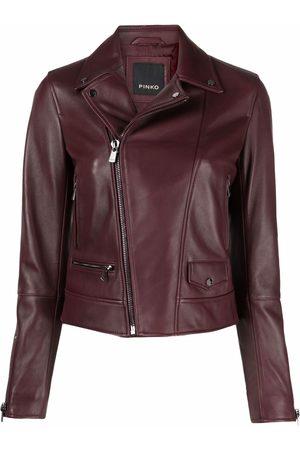 Pinko Damen Lederjacken - Cropped leather jacket