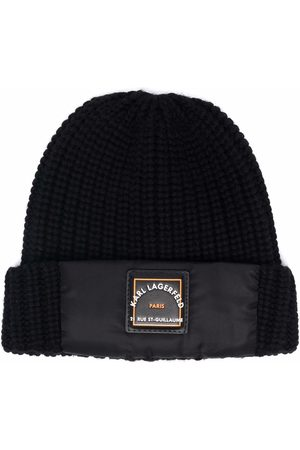 Karl Lagerfeld Logo-patch knitted beanie
