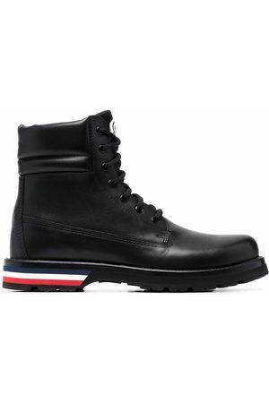 Moncler Logo-patch lace-up boots