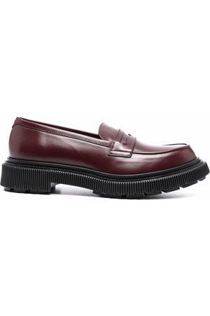 ADIEU PARIS Penny-slot leather loafers