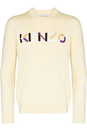 Kenzo Embroidered-logo crew neck jumper