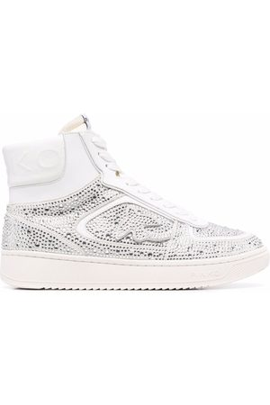 Pinko Crystal-embellished high-top trainers
