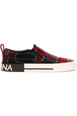 Dolce & Gabbana Portofino Light tartan-check sneakers