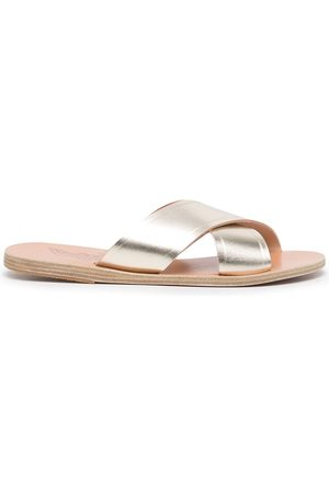 Ancient Greek Sandals Thais slip-on metallic sandals