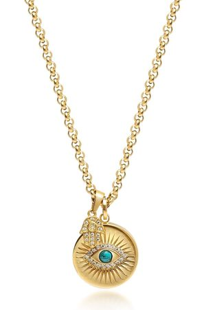 Nialaya Jewelry Evil Eye pendant necklace