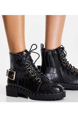 ASOS Damen Halbschuhe - Legit loafer ballet flats in black