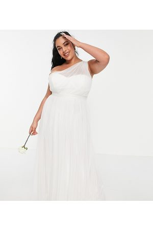 ANAYA With Love tulle one shoulder maxi dress in white