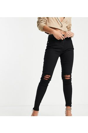 Parisian Tall Damen High Waisted - Skinny jeans with ripped knee in black