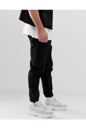 ASOS Tapered cargo trousers in grey-Neutral