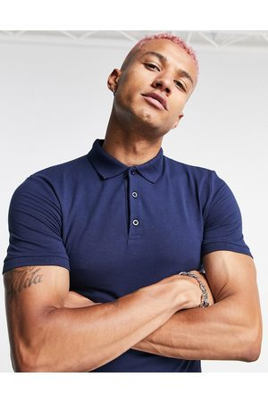 ASOS Organic cotton blend muscle polo in white
