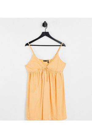 ASOS Petite strappy babydoll sundress in peach