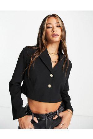 Topshop Damen Blazer & Sakkos - Cropped blazer in black