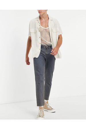 ASOS Herren Straight - Classic rigid jeans in vintage dark tinted wash-Blue