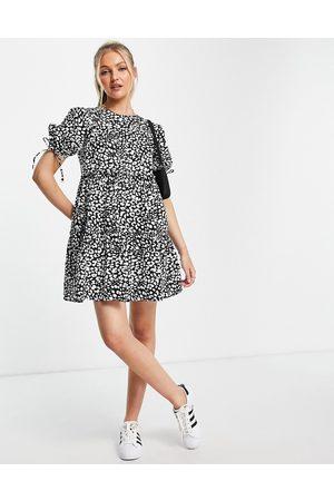 Influence Tiered mini dress in animal print-Multi