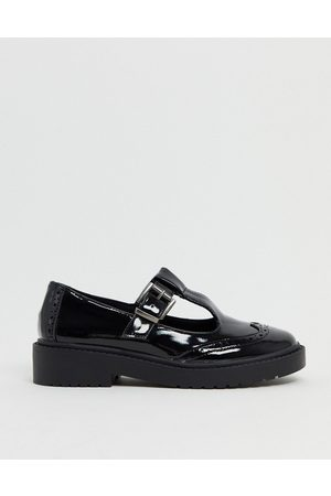 ASOS Maisie chunky mary-jane flat shoes in patent