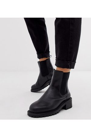 ASOS Wide Fit Action chunky chelsea boots in