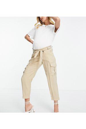 Mama Licious Mamalicious cargo pants in -Neutral