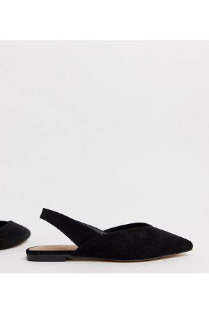 ASOS Susie tie leg mid heels in black