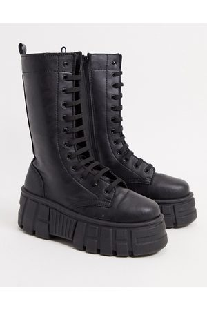 ASOS Athens 2 chunky high lace up boots in