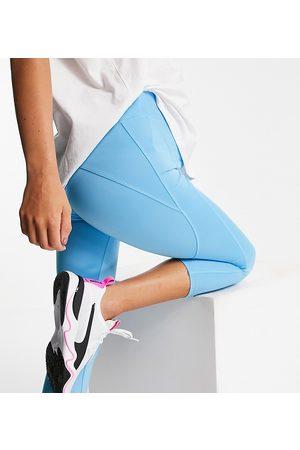 ASOS Icon run tie waist capri legging-Blue