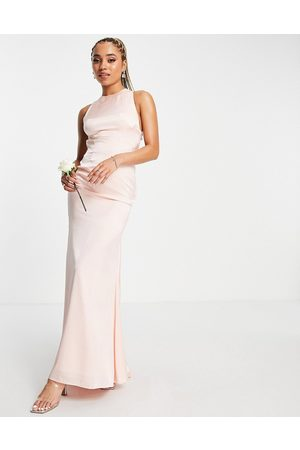 Virgos Embellished maxi dress with wrap front in navy