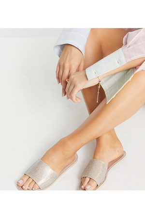 SIMMI Shoes Simmi London Journi jewelled jelly slides in blush-Pink