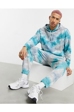 ASOS Herren Sweatshirts - Co-ord oversized hoodie in tie dye effect with San Francisco chest embroidery-Multi