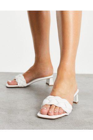 ASOS Nice gladiator heeled sandals in white
