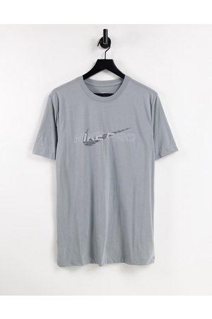 Nike Nike Pro Training graphic t-shirt in grey