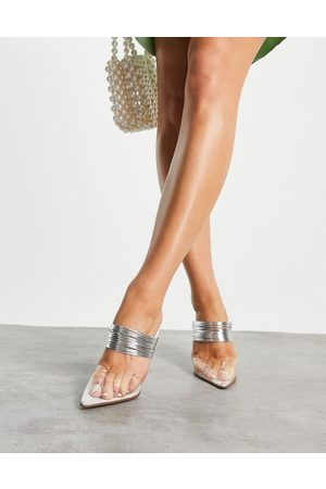 ASOS Jollie knotted mule espadrille in coral