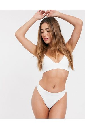 Weekday Damen Bustiers - Cat recycled polyamide triangle bralette in -Neutral