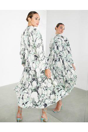 ASOS Oversized midi dress in marble print-Multi