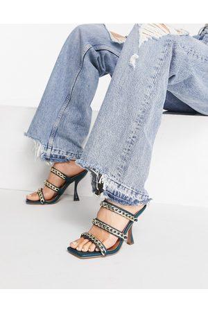 ASOS Damen Halbschuhe - Mindy flat loafers in tan croc-Brown