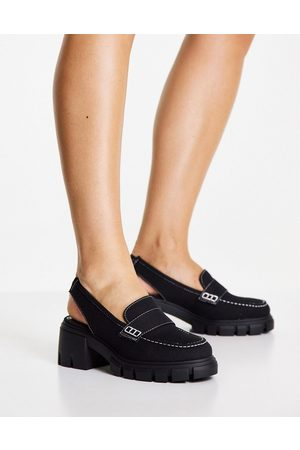 ASOS Damen Sneakers - Daz canvas high top trainers in black